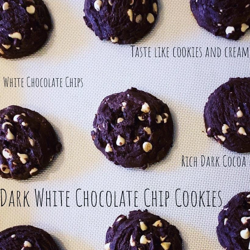 Dark White Chocolate Chip Cookies
