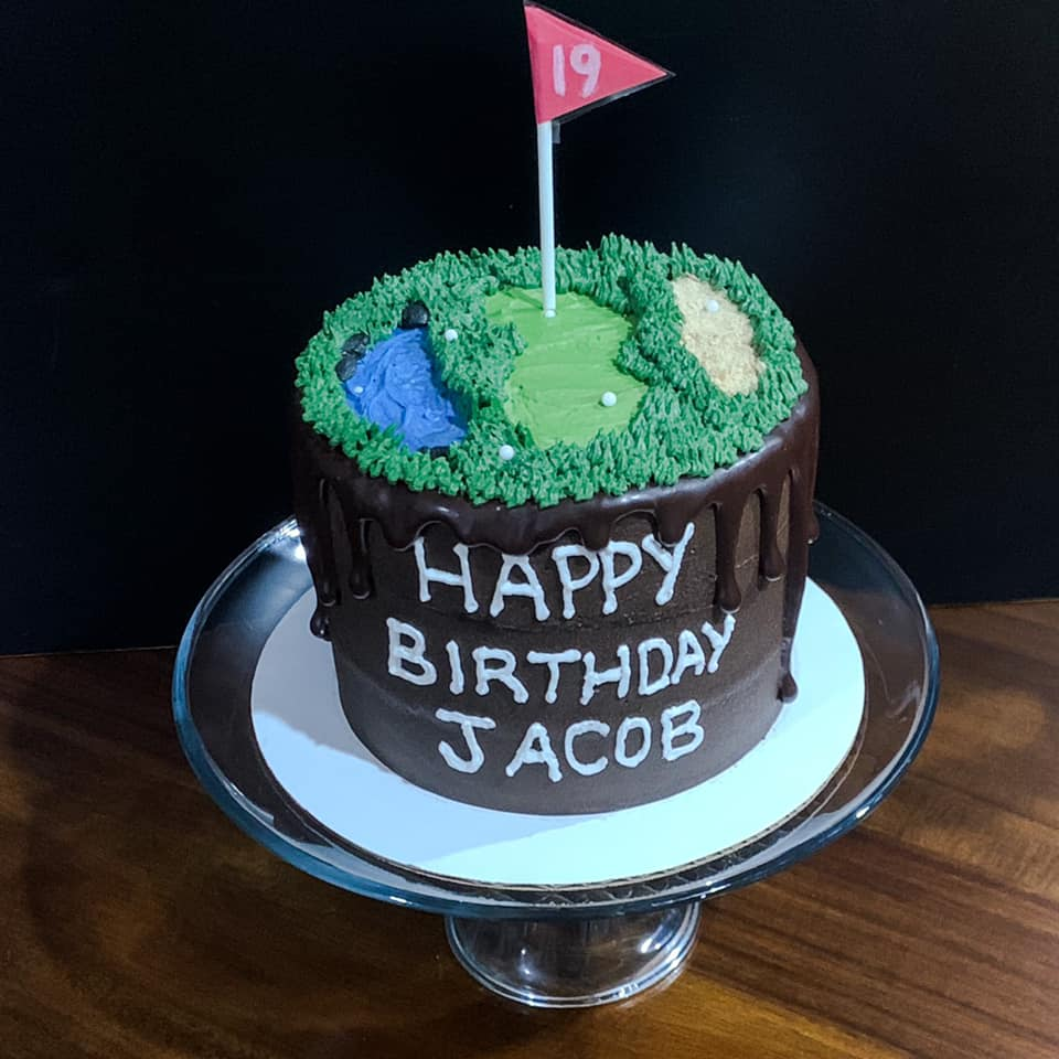 Double Chocolate Golf Cake