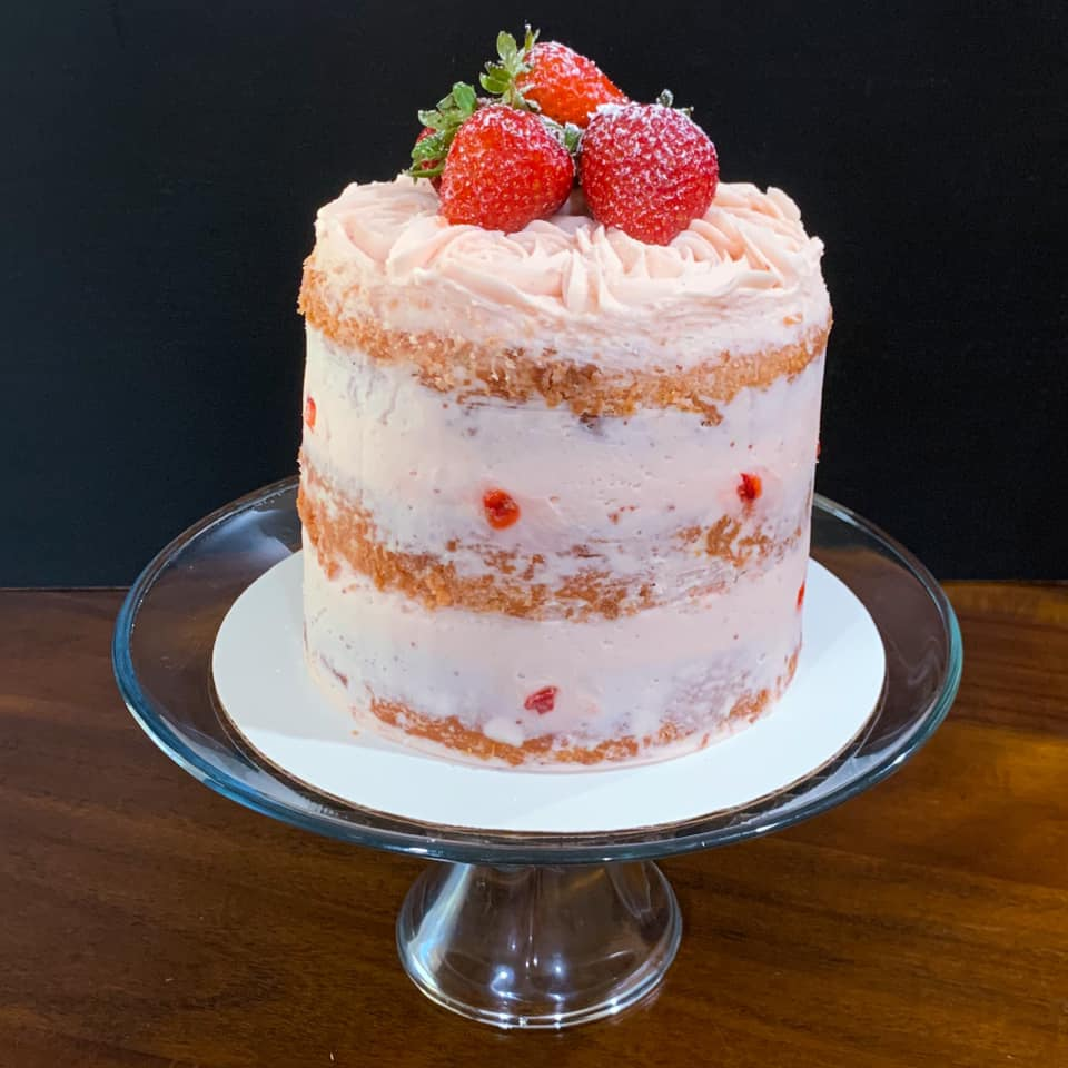 Semi Naked Strawberry Cake