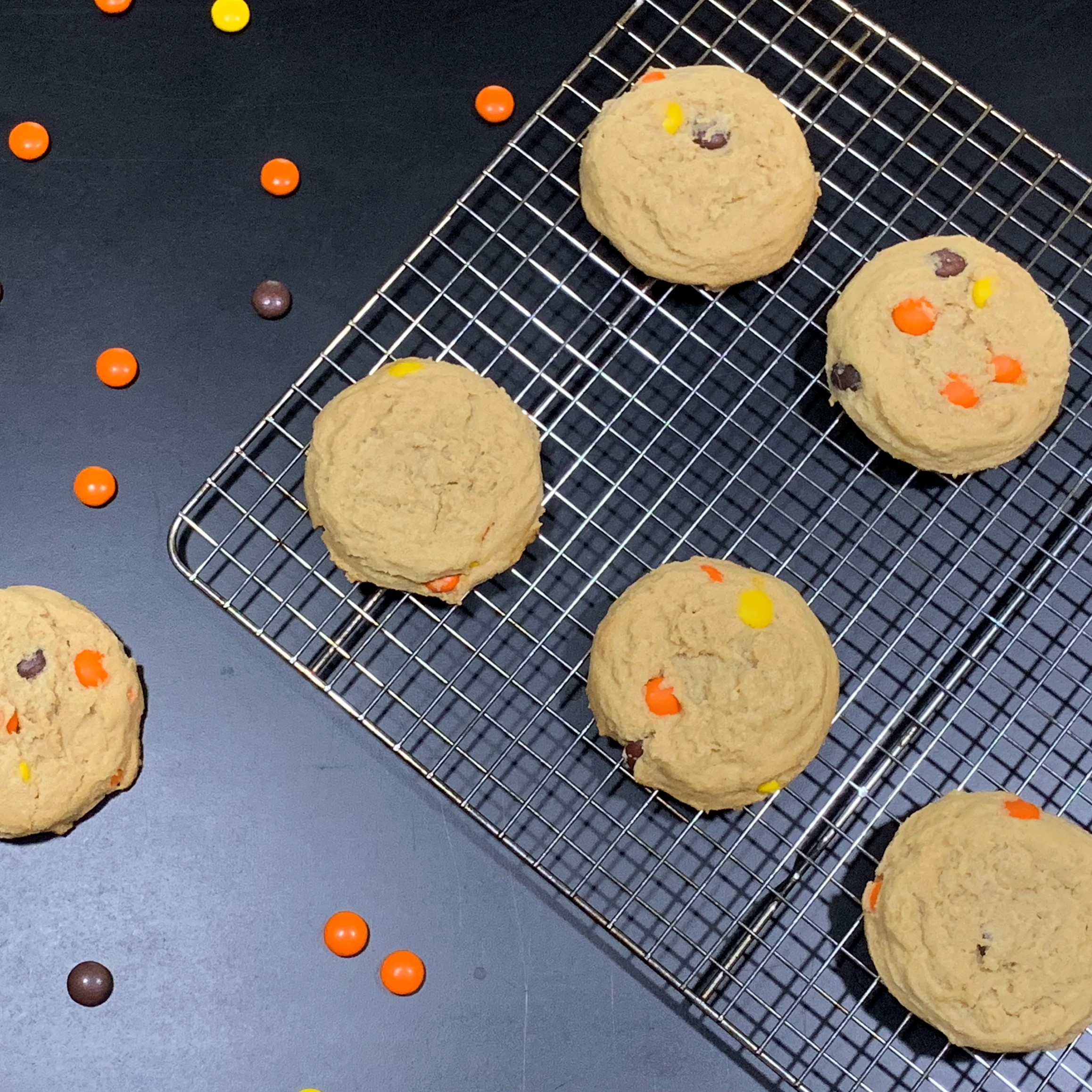 Peanut Butter Cookies with Reeces Pieces