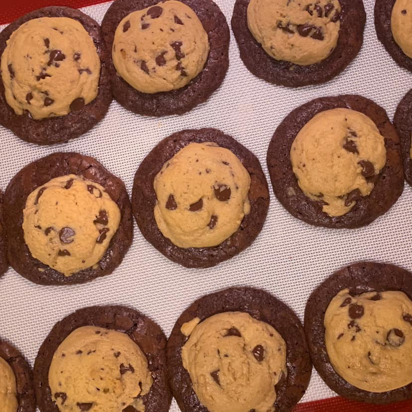 Brownie Chocolate Chip Cookies